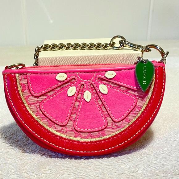 $$ SOLD $$ Coach watermelon Wristlet
